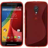 Silikonhülle für Motorola Moto G 2014 2. Generation S-Style rot