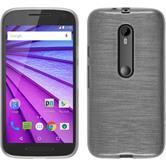 Silikonhülle für Motorola Moto G 2015 3. Generation brushed weiß