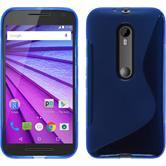 Silikonhülle für Motorola Moto G 2015 3. Generation S-Style blau
