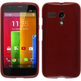 Silikonhülle für Motorola Moto G brushed rot