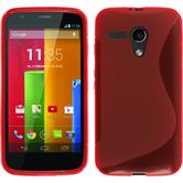 Silicone Case for Motorola Moto G S-Style red