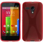 Silikon Hülle Moto G X-Style rot + 2 Schutzfolien