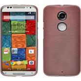 Silikonhülle für Motorola Moto X 2014 2. Gen. brushed rosa
