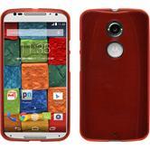 Silikonhülle für Motorola Moto X 2014 2. Gen. brushed rot