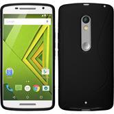 Silikonhülle für Motorola Moto X Play S-Style schwarz