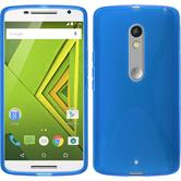 Silikon Hülle Moto X Play X-Style blau