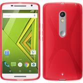 Silikon Hülle Moto X Play X-Style rot + 2 Schutzfolien