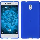 Silikonhülle für Nokia 3 matt blau