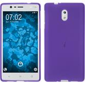 Silikonhülle für Nokia 3 matt lila