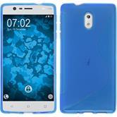 Silikonhülle für Nokia 3 S-Style blau