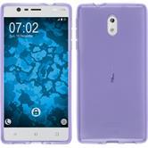 Silikonhülle für Nokia 3 transparent lila