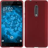 Silikonhülle für Nokia 5 matt rot