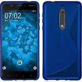 Silikonhülle für Nokia 5 S-Style blau
