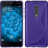 Silikonhülle für Nokia 5 S-Style lila