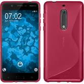 Silikonhülle für Nokia 5 S-Style pink