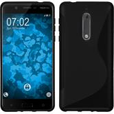 Silikonhülle für Nokia 5 S-Style schwarz