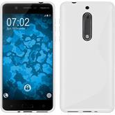 Silikon Hülle Nokia 5 S-Style weiß + 2 Schutzfolien