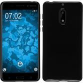 Silikon Hülle Nokia 6  schwarz + 2 Schutzfolien