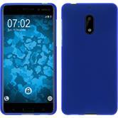 Silikon Hülle Nokia 6 matt blau + 2 Schutzfolien