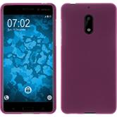 Silikon Hülle Nokia 6 matt pink + 2 Schutzfolien