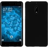 Silikon Hülle Nokia 6 matt schwarz + 2 Schutzfolien