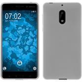 Silikon Hülle Nokia 6 matt weiß + 2 Schutzfolien