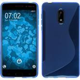 Silikon Hülle Nokia 6 S-Style blau + 2 Schutzfolien
