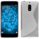 Silikon Hülle Nokia 6 S-Style clear + 2 Schutzfolien