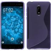 Silikon Hülle Nokia 6 S-Style lila + 2 Schutzfolien