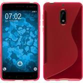 Silikon Hülle Nokia 6 S-Style pink + 2 Schutzfolien
