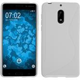 Silikon Hülle Nokia 6 S-Style weiß + 2 Schutzfolien