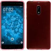 Silikon Hülle Nokia 6 transparent rosa + 2 Schutzfolien