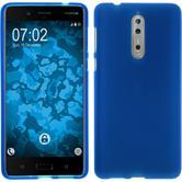 Silikon Hülle Nokia 8 matt blau Case
