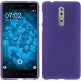 Silikon Hülle Nokia 8 matt lila Case