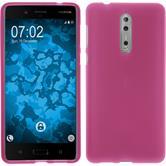 Silikon Hülle Nokia 8 matt pink Case