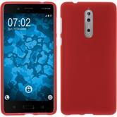 Silikon Hülle Nokia 8 matt rot Case