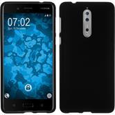Silikon Hülle Nokia 8 matt schwarz Case