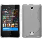 Silikon Hülle Nokia Asha 501 S-Style clear + 2 Schutzfolien