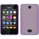 Silicone Case for Nokia Asha 501 X-Style purple