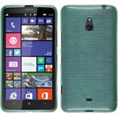 Silikon Hülle Nokia Lumia 1320 brushed grün + 2 Schutzfolien