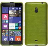 Silikon Hülle Nokia Lumia 1320 brushed pastellgrün + 2 Schutzfolien