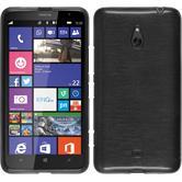 Silikon Hülle Lumia 1320 brushed silber