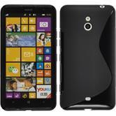 Silikon Hülle Lumia 1320 S-Style schwarz