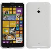 Silikon Hülle Nokia Lumia 1320 S-Style weiß + 2 Schutzfolien