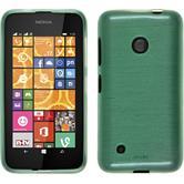 Silikon Hülle Nokia Lumia 530 brushed grün + 2 Schutzfolien
