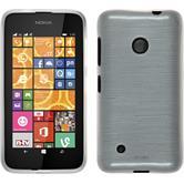 Silikonhülle für Nokia Lumia 530 brushed weiß
