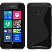 Silikon Hülle Lumia 530 S-Style schwarz