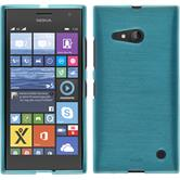 Silikon Hülle Lumia 730 brushed blau
