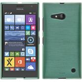 Silikonhülle für Nokia Lumia 730 brushed grün