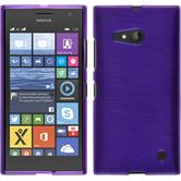 Silikon Hülle Nokia Lumia 730 brushed lila + 2 Schutzfolien